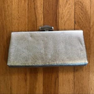 Vintage Silver Metallic Clutch